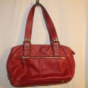 womens red purse